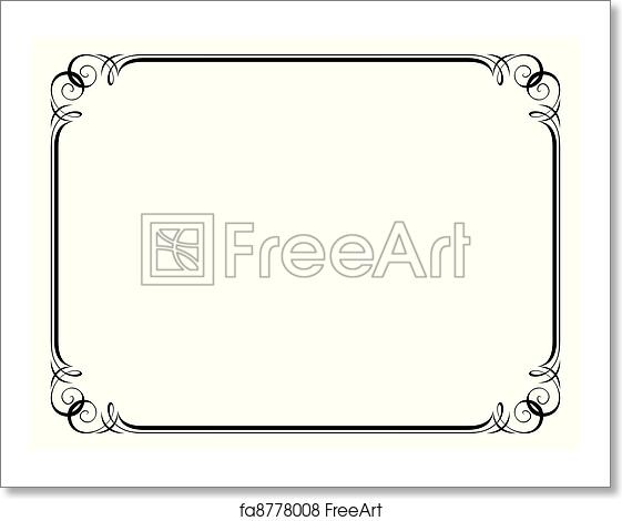 Free art print of Calligraphy ornamental decorative frame. Vector ...