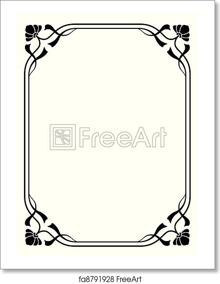 Free art print of Art nouveau ornamental decorative frame. Vector ...