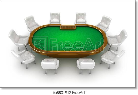 table and chairs top view dining free art print of poker table with chairs top view view