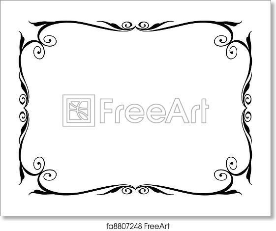 Free art print of Simple ornamental decorative frame. Vector simple ...