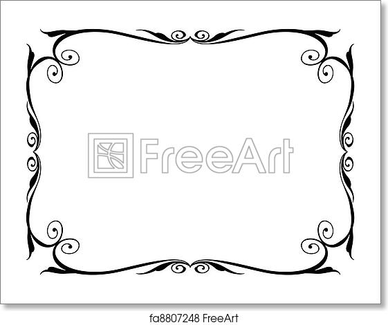 Free art print of Simple ornamental decorative frame. Vector simple ...