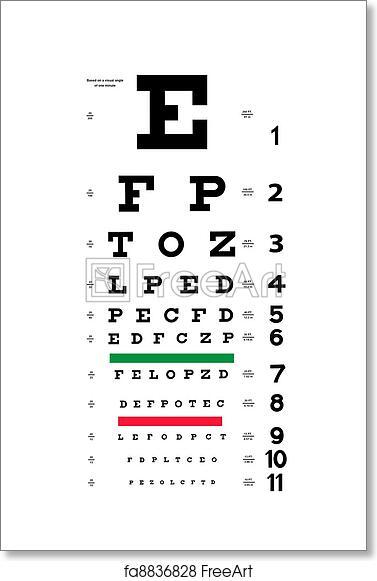 Free Art Print Of Eye Test Chart Photograph Of A New Snellen Eye