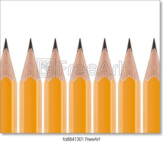 free art print of sharpened pencil sharpened yellow pencil in