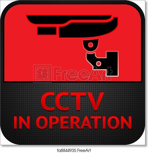 Free Art Print Of Cctv Pictogram Symbol Security Camera Warning