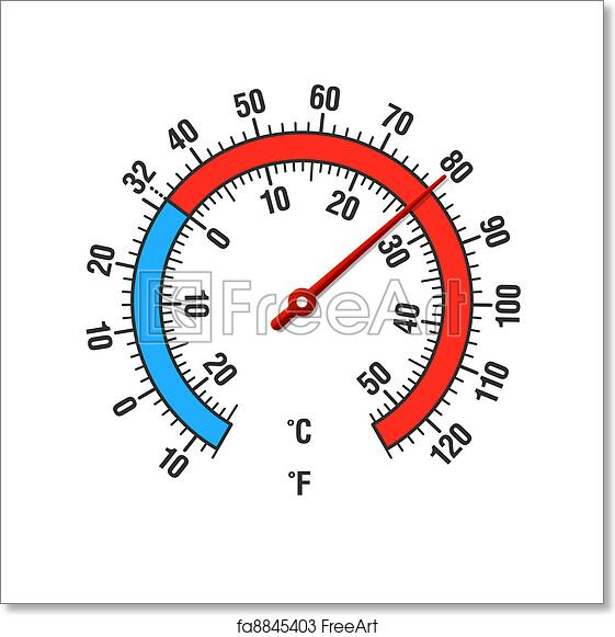 free art print of celsius and fahrenheit thermometer celsius and
