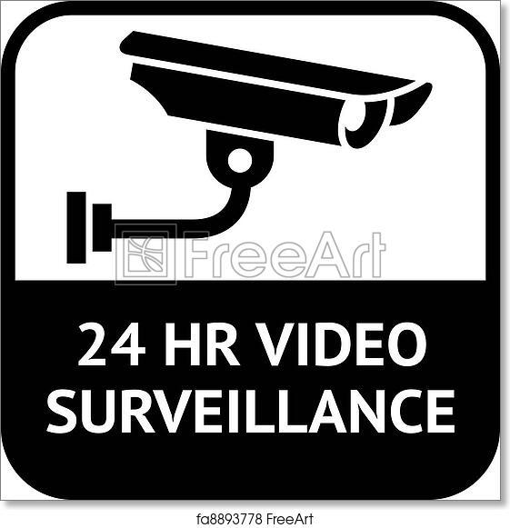 Free Art Print Of Cctv Symbol Video Surveillance Warning Sticker