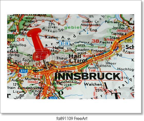 Free art print of Innsbruck marked on map Innsbruck Austria Map on pinkafeld austria map, munich germany map, germany and austria map, wiener neustadt austria map, munich austria map, austria world map, vienna map, italy germany austria map, zell am see austria map, stubai austria map, austria province map, encarnacion paraguay on a map, alps map, mariazell austria map, eisenstadt austria map, zurich austria map, mittenwald map, strasbourg austria map, salzburg austria map, hallstatt austria map,