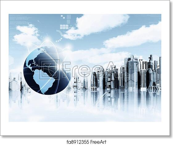 free art print of information technology background information