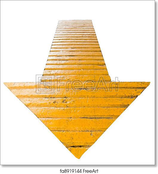 Arrow Pointing Down >> Free Art Print Of Yellow Arrows Pointing Down Yellow Arrow To