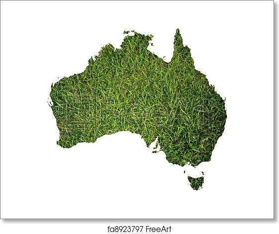 Australia Map Printable Free.Free Art Print Of Australia Map Background With Grass This Map Made