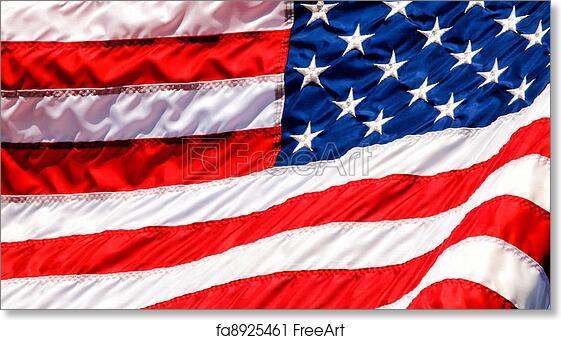Free art print of USA Flag Waving Closup