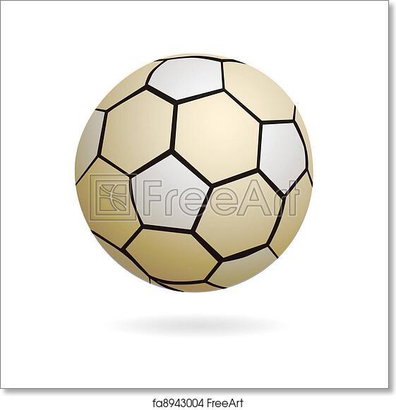 Free Art Print Of Isolated Handball Soccer Ball Illustration Of Cool Designed Soccer Or Hand Ball Freeart Fa8943004