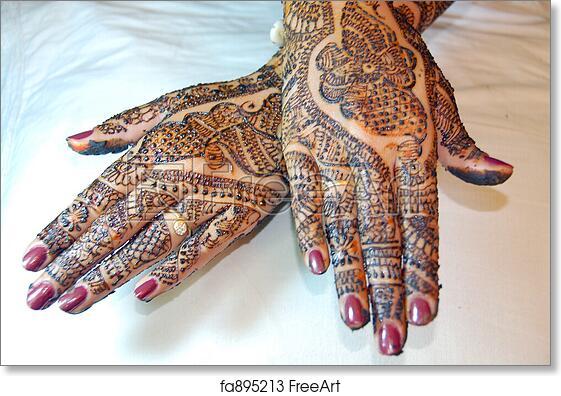 Free Art Print Of Henna Tattoo Design On Hands Freeart Fa895213