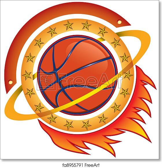 Free art print of Basketball team logo