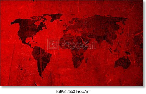 Vintage World Map Art.Free Art Print Of Scratch Vintage World Map World Map Textures And