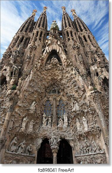 Free Art Print Of Sagrada Familia Barcelona Looking Up At The