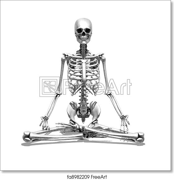Free Art Print Of Meditation Skeleton 3d Render Depicting A Skeleton Meditating Special Shaders Were Used In The Rendering Process To Create The Appearance Of A Pencil Drawing Freeart Fa8982209