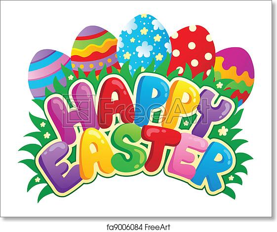 Free art print of Happy Easter sign theme image 3. Happy ...