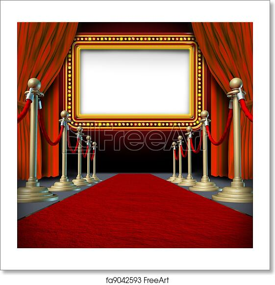 Free Art Print Of Movie Marquee Sign