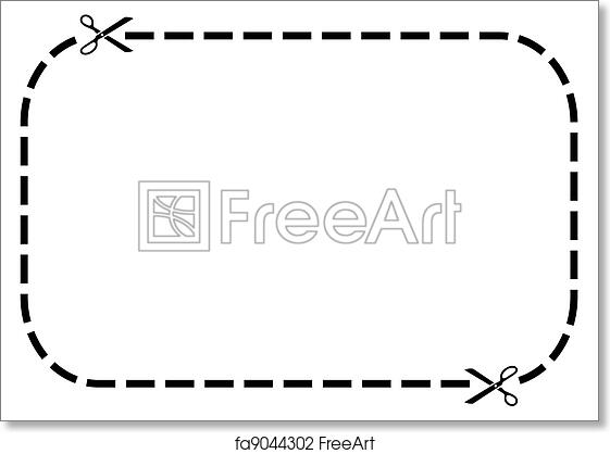 graphic about On the Border Printable Coupons identified as No cost artwork print of Coupon border