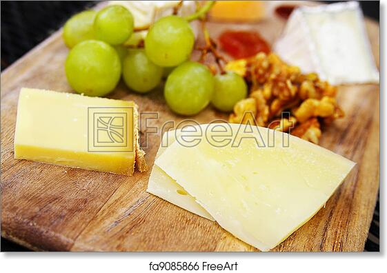 Free art print of Gourmet cheese plate with fruit and walnuts  sc 1 st  FreeArt & Free art print of Gourmet cheese plate with fruit and walnuts ...