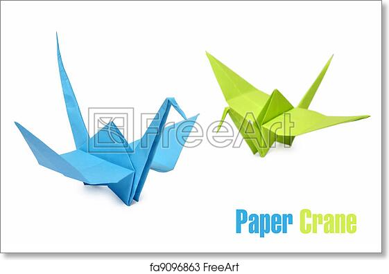picture regarding Origami Crane Instructions Printable called No cost artwork print of Origami cranes