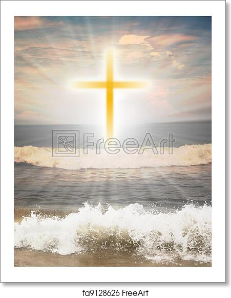 Free Art Print Of Christian Religious Symbol Cross Against Sun Shine