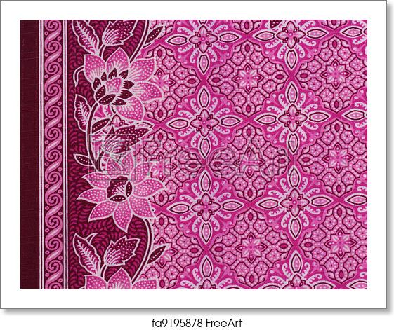 Free Art Print Of Beautiful Pink Batik Patterns That