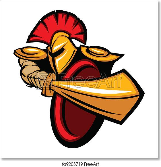 Free art print of Trojan Mascot Body with Sword and Shield ...