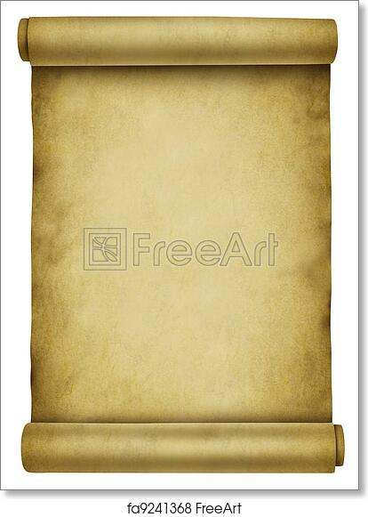 free art print of blank scroll. blank scroll on ancient parchment, Powerpoint templates