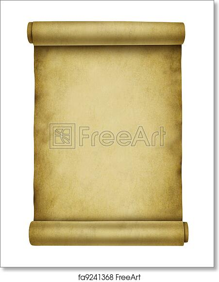 free art print of blank scroll blank scroll on ancient parchment