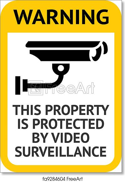 picture regarding Video Surveillance Sign Printable known as Free of charge artwork print of Consideration Movie Surveillance