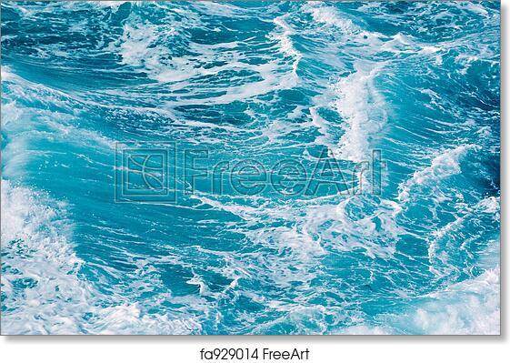 free art print of ocean waves background image of turbulent waves
