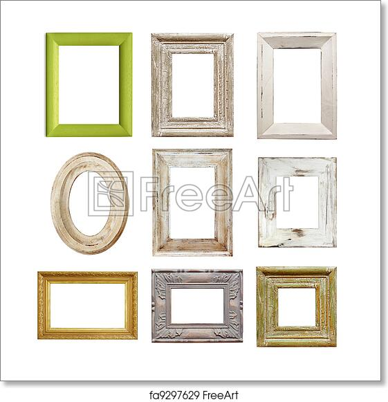 Free art print of Collection of Distressed Picture Frames ...