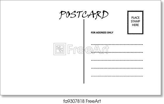 free art print of empty blank postcard template white empty