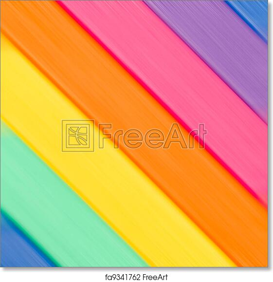 Free art print of Color diagonal strips background