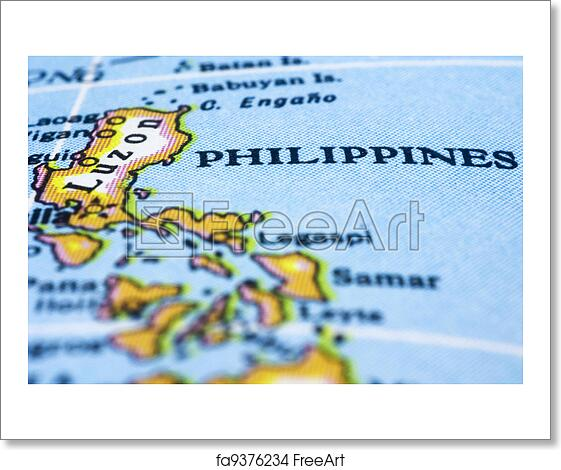 Free art print of close up of philippines on map philippines marker free art print of close up of philippines on map publicscrutiny Images