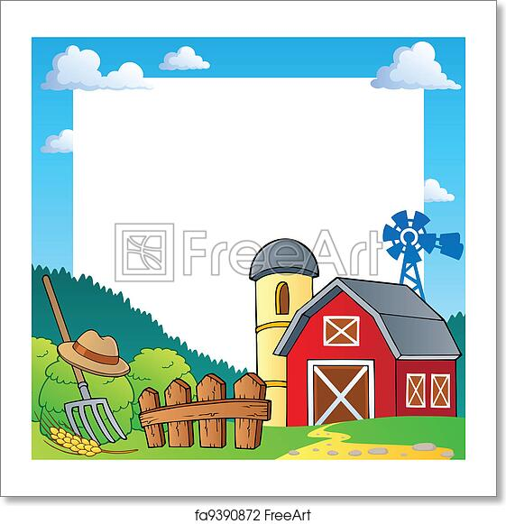 Free art print of Farm theme frame 1. Farm theme frame 1 - vector ...
