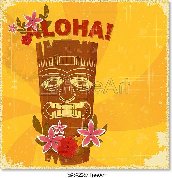Free art print of vintage hawaiian postcard vintage hawaiian free art print of vintage hawaiian postcard vintage hawaiian postcard invitation to beach party vector illustration freeart fa9392267 stopboris Choice Image
