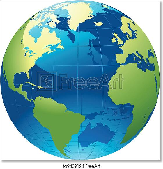 graphic regarding Printable World Globe called Absolutely free artwork print of World wide planet