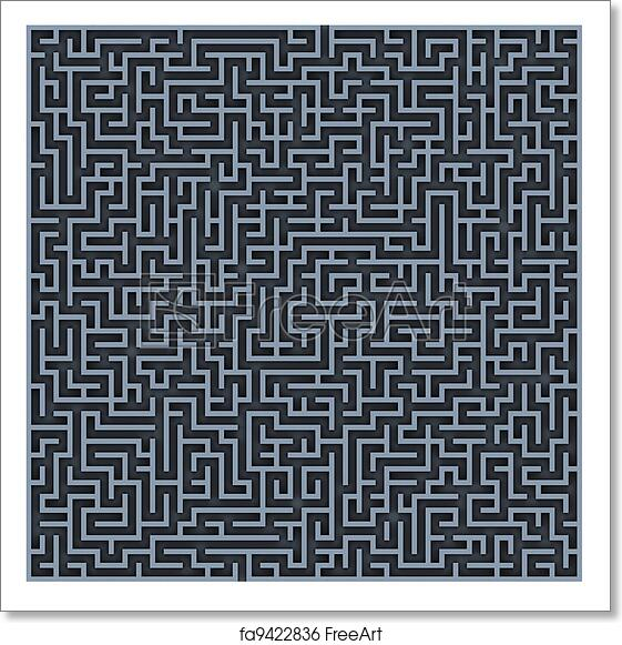 Free art print of Maze background. Maze background 3d illustration Yin Yang Labyrinth Garden Designs Html on
