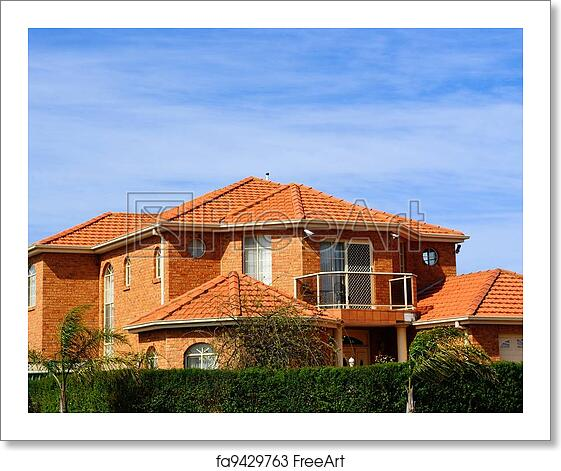 Free art print of House with terracotta roof tiles