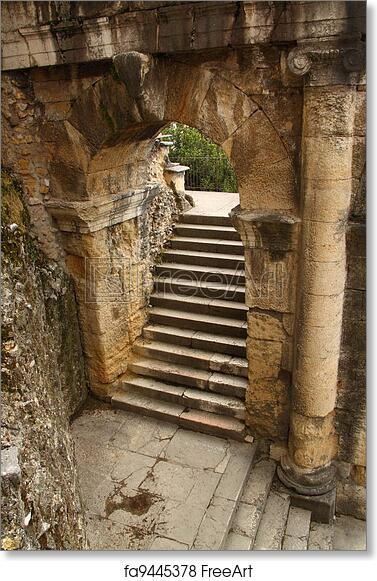 Free Art Print Of Ancient Roman Arch And Staircase. An Ancient Arch Above A  Staircase In The Roman Theater In Verona, Italy | FreeArt | Fa9445378