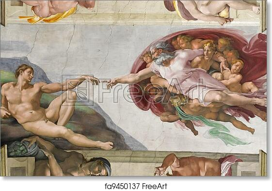 free art print of creation of adam creation of adam by michelangelo