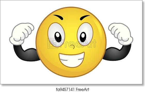 Free art print of Strong Smiley. Illustration of a Smiley ...