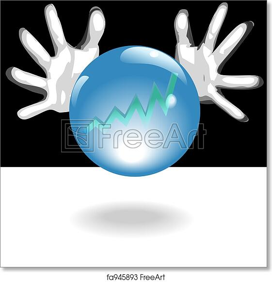 Free art print of Profit Future Crystal Ball In Hands