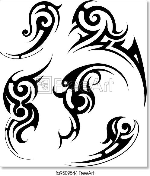 graphic relating to Give Me Five Poster Printable Free referred to as Absolutely free artwork print of Tribal tattoo