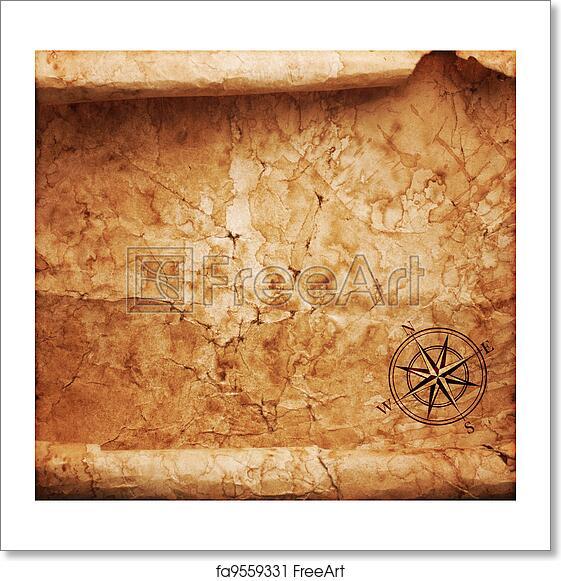 Free Art Print Of Old Treasure Map