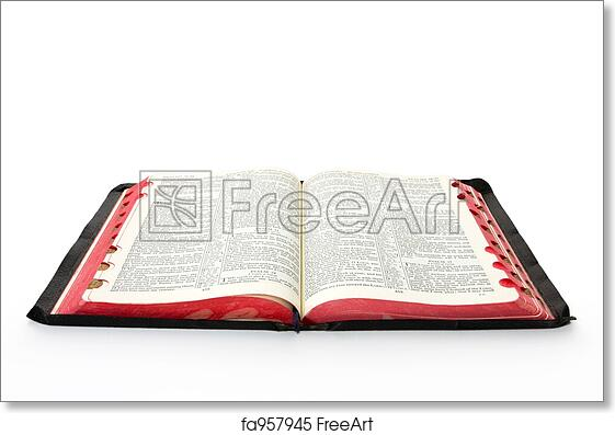 free art print of open bible open bible casting soft shadow on