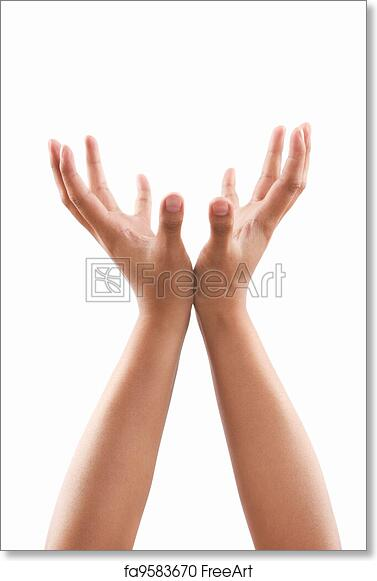 free art print of supporting hand gesture supporting hands gesture